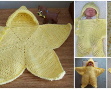 Cute Star Crochet Baby Bunting Free Pattern