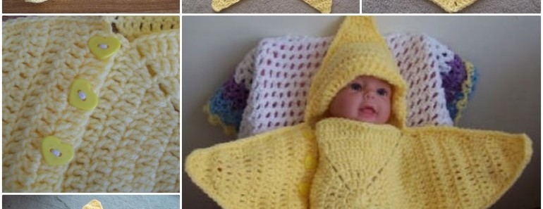 Crochet Star Baby Bunting Pattern Manet For