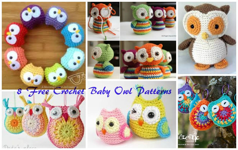 8 FREE crochet baby owl patterns