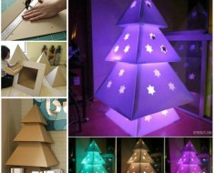 Cardboard-Christmas-Tree DIY tutorial
