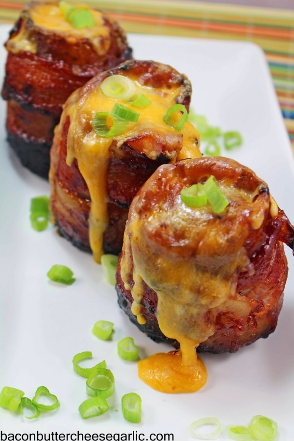 Cheesy Bacon BBQ Volcano Potatoes3