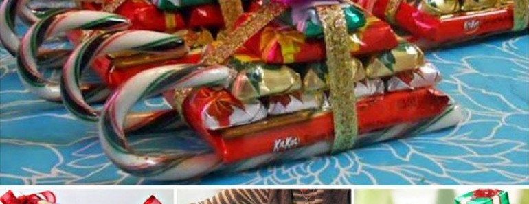 Candy Cane Sleighs DIY for Christmas