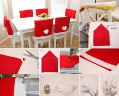 Santa Hat Chair Cover DIY