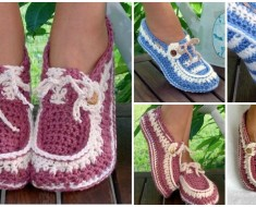Button Loafers crochet pattern