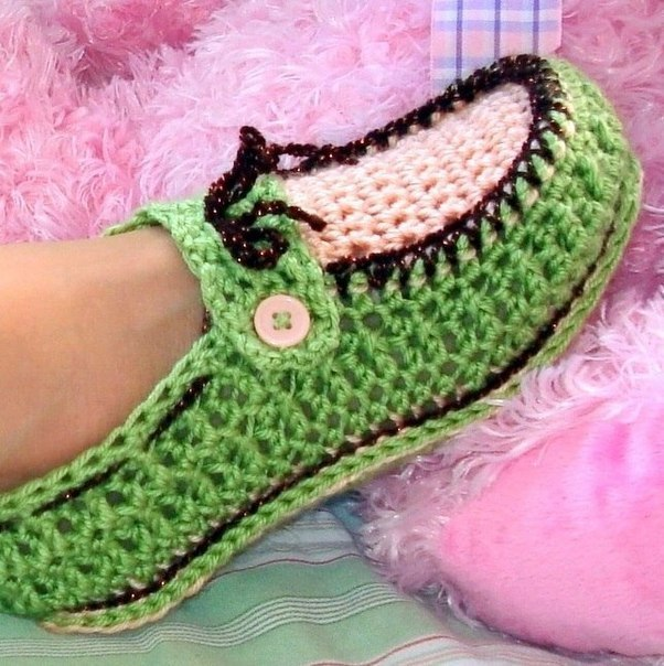 Crochet-Adult-Button-Loafers pattern3