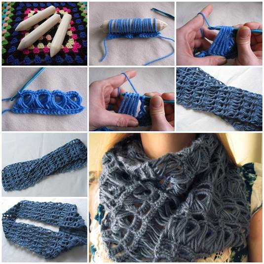 Crochet Broomstick Lace Scarf Free Pattern Beesdiy