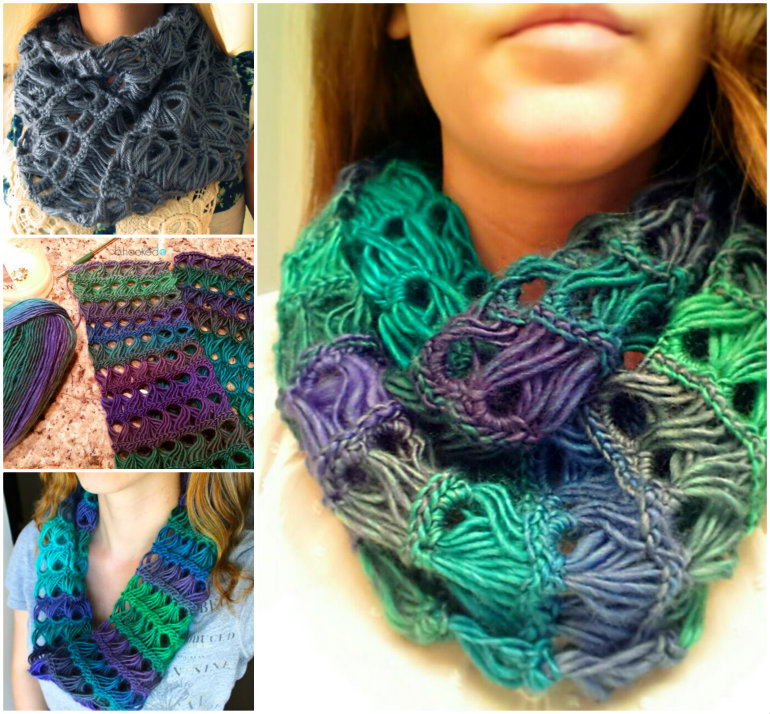 Crochet Broomstick Lace Scarf (FREE Pattern)