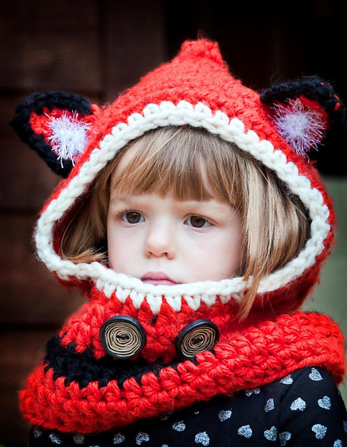 Crochet Knitted Fox Cowl Pattern Beesdiy