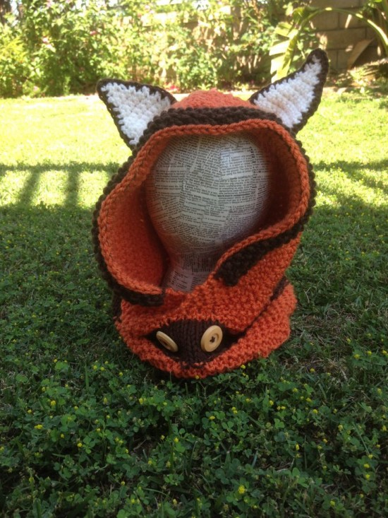 Crochet & Knitted Fox Cowl Pattern 3