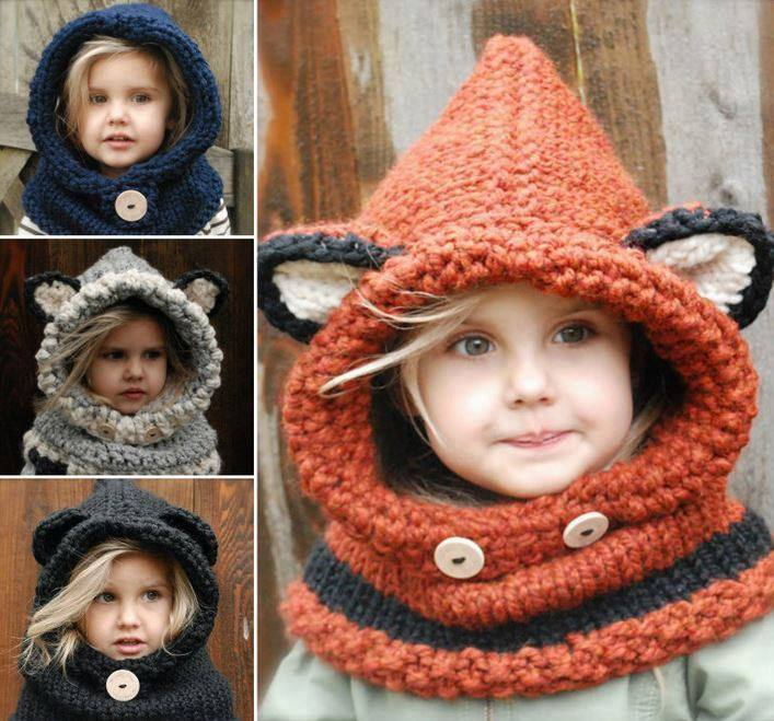Crochet & Knitted Fox Cowl Pattern