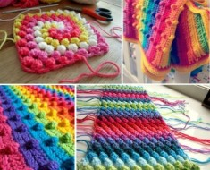 Crochet Puff Stitch Blanket Free Pattern