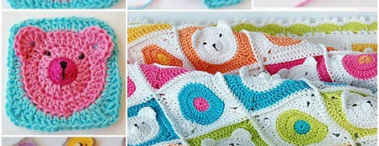 Crochet Teddy Bear Baby Blanket (VIDEO)