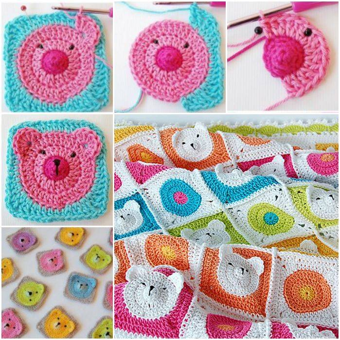 Adorable Crochet Teddy Bear Baby Blanket (VIDEO)
