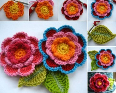 Crochet Triple Layer Flower Free Pattern