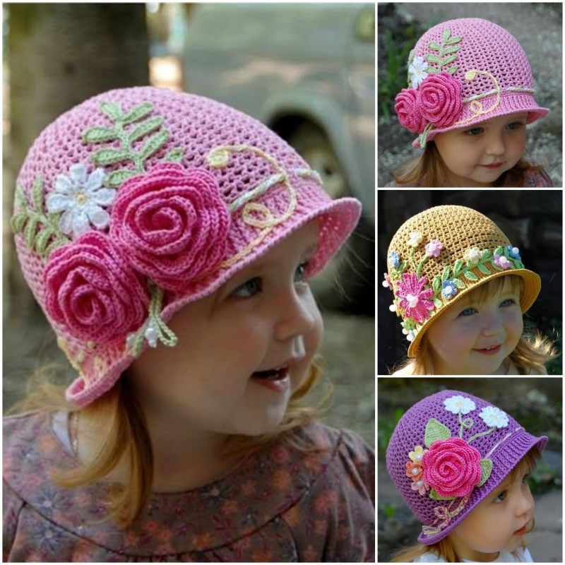 Pretty Crochet Girls Panama Hat Free Patten And Video
