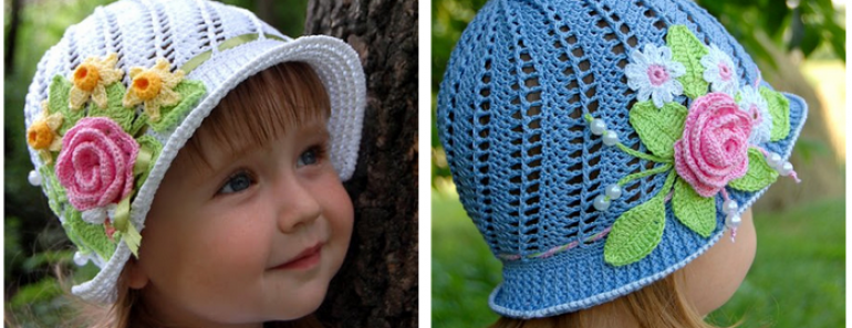 Pretty Girls Crochet Panama Hats (Free Pattern and Video)
