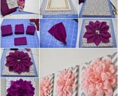 DIY,felt flower,wall art
