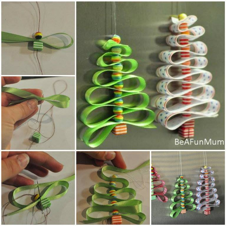 Ribbon Christmas Tree DIY Tutorial