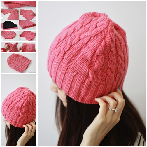 Diy Beanie Hat From Old Sweater Video Beesdiy Com