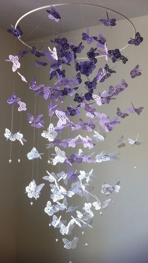 DIY Butterfly Chandelier Mobile Tutorials3