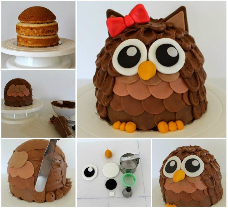 super cute owl cake recipe