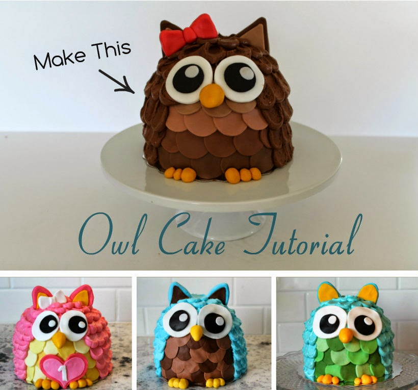 DIY CUTE OWL CAKE RECIPE1