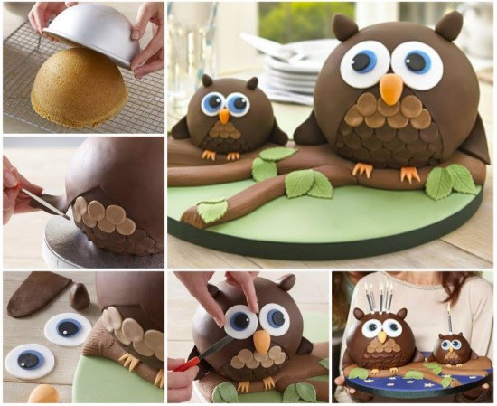 DIY CUTE OWL CAKE RECIPE2