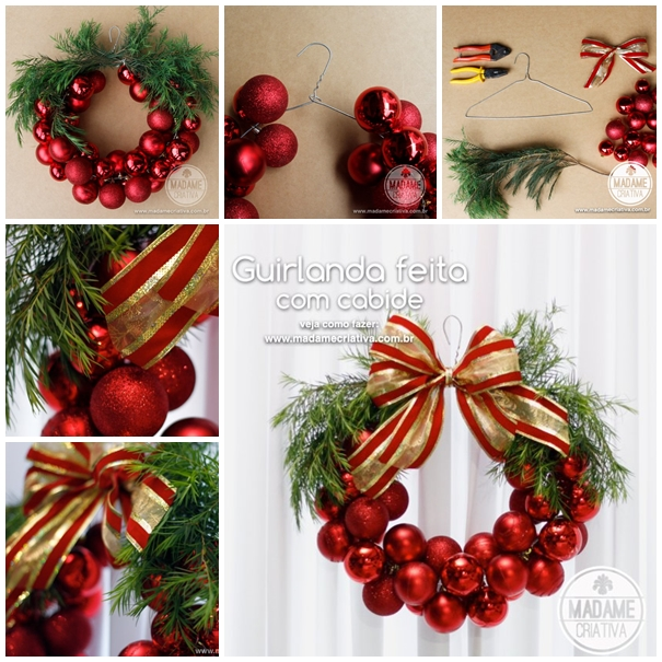 Christmas bauble wreath diy tutorial for How to make christmas door wreaths
