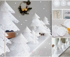 DIY Doily Paper Christmas Tree