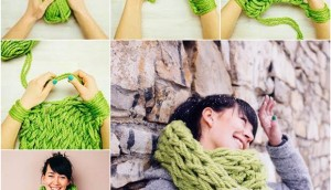 DIY-Easy-Arm-Knitted-Scarf
