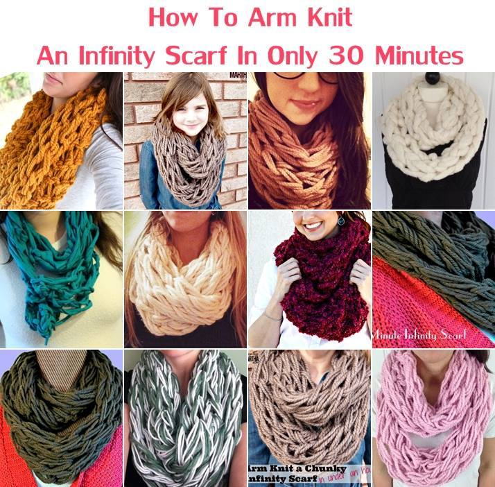 arm knitted ,scarf,craft