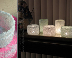 DIY Epsom-Salt-Luminaries
