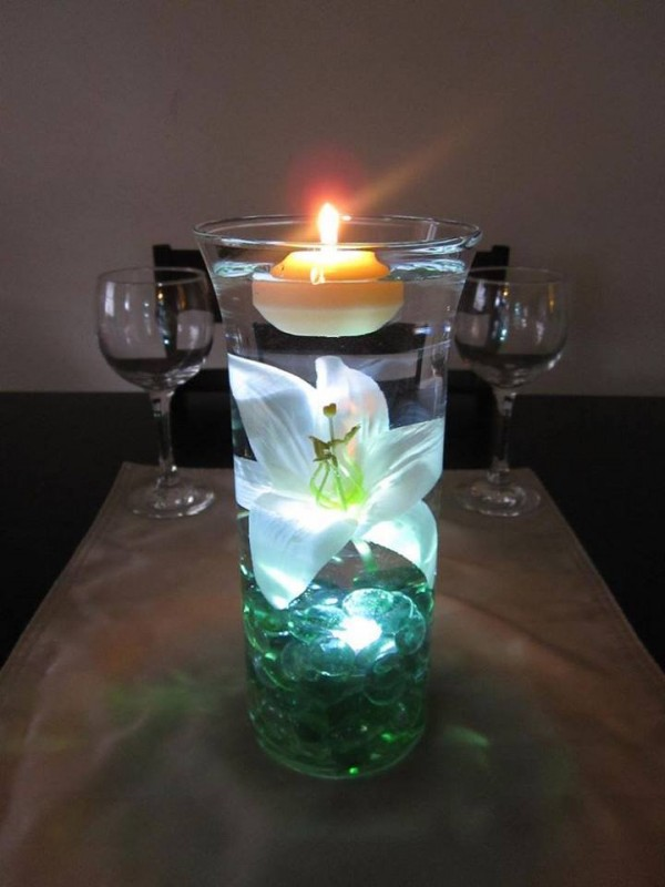 DIY Floating Candle Centerpiece tutorial6