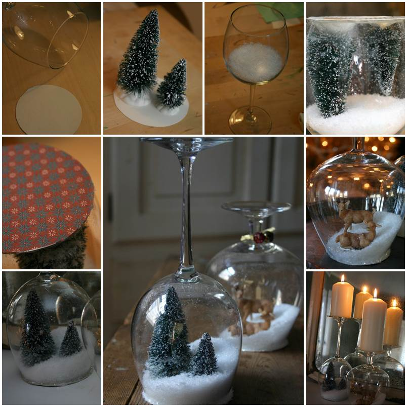 Goblet-Snow Globe DIY tutorial
