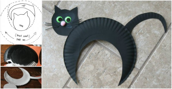 DIY Halloween Paper-Plate-Black-Cat