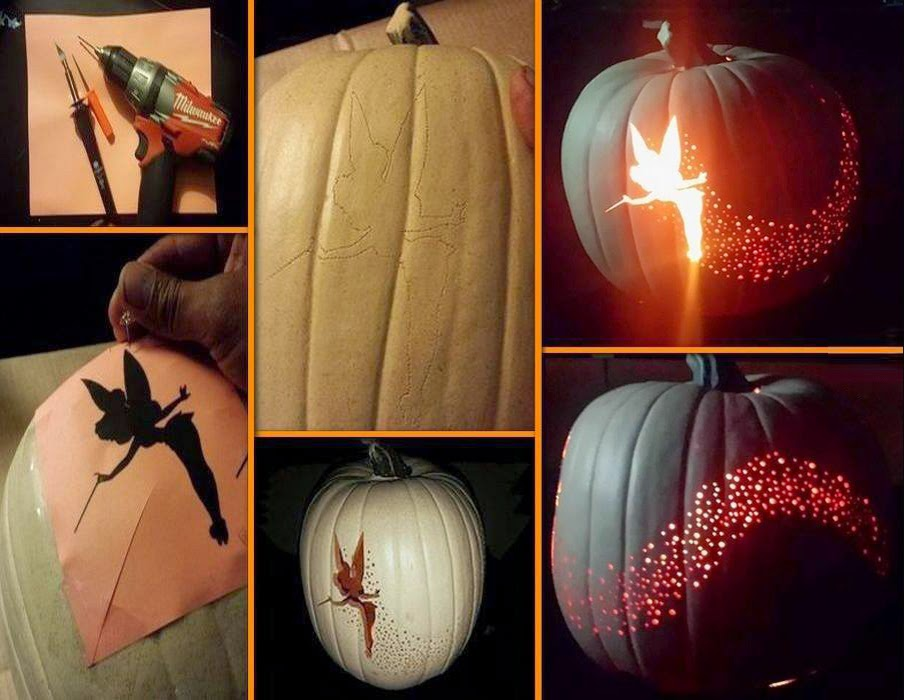 DIY Halloween Tinkerbell Pumpkin With Template
