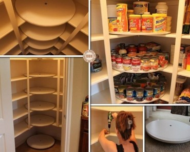 DIY Lazy Susan Pantry Makeover