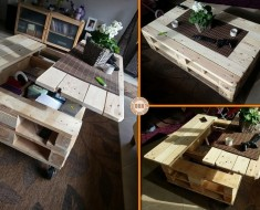 Multifunction pallet Coffe Table DIY