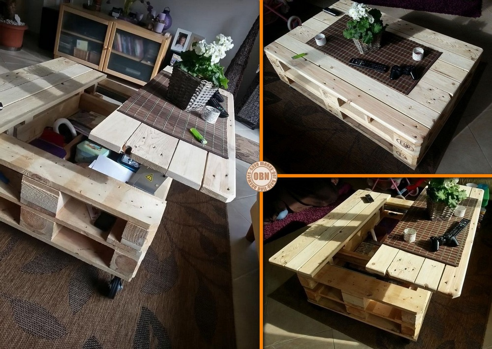 diy multifunction pallet coffee table