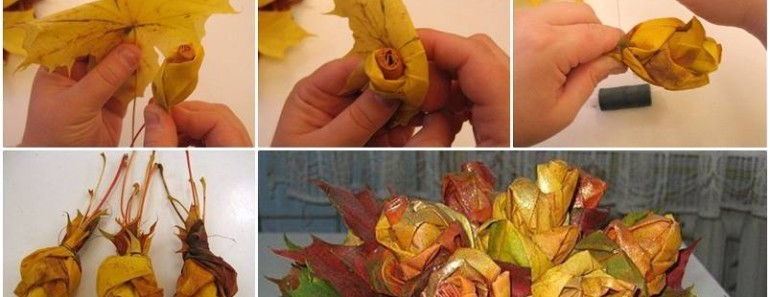 DIY Pretty Maple Leaf Rose Flower