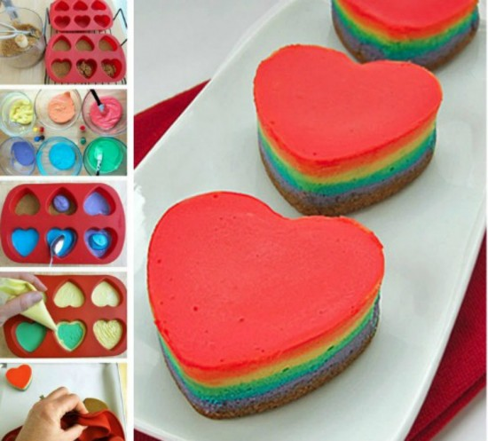 DIY-Mini-Rainbow-Cheesecake-Hearts-Recipe