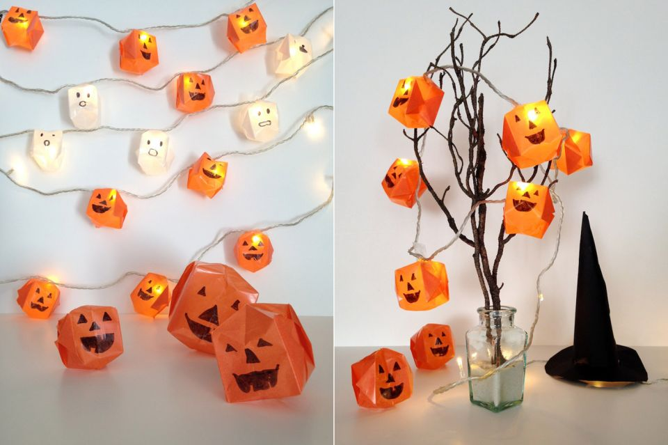 diy origami halloween lights. Black Bedroom Furniture Sets. Home Design Ideas