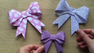 DIY Origami-Paper-Bow