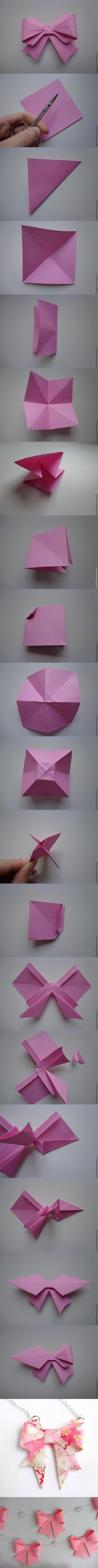 DIY Origami-Paper-Bow 3