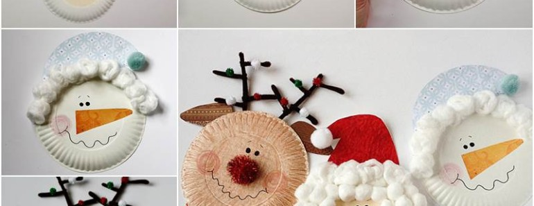 Paper Plate Christmas Characters DIY Tutorial