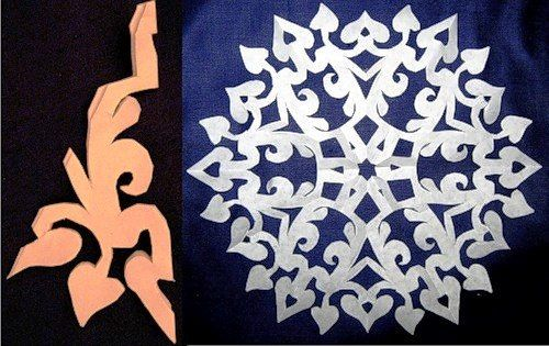 DIY Paper-Snowflake from-Template3