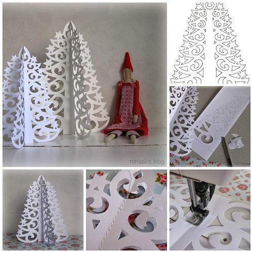 DIY Paper Star Christmas Tree 2