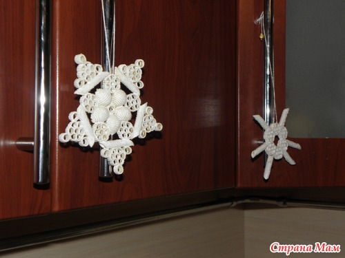 diy pasta snowflake ornaments for christmas