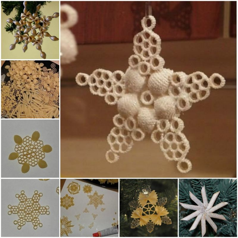 DIY-Pasta-Snowflake-Ornaments