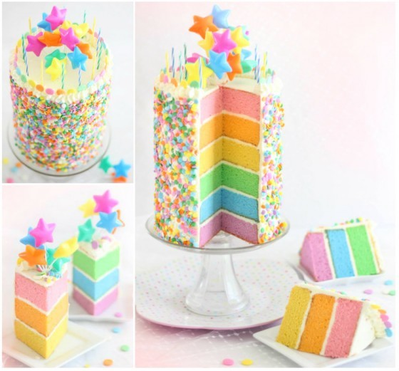 16 Rainbow Cake Recipes And Tutorials Beesdiy Com